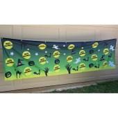 Happy Halloween Green Fence Mesh