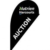 Nutrien Harcourts Auction Black (2020) Small Teardrop Flag