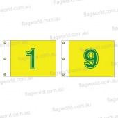 Golf flag set 1-9