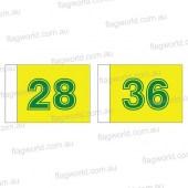 Golf flag set 28-36