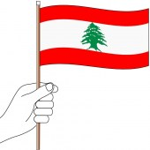 Lebanon Hand Flag Handwaver