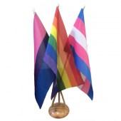 LGBT Desk Flag Set with3 Hole Base
