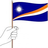 Marshall Islands Hand Flag Handwaver