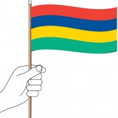Mauritius Hand Flag Handwaver