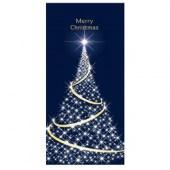 Merry Christmas Flag Dark Blue with White Tree (87)