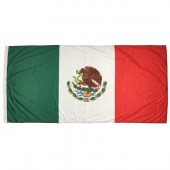 Mexican Flag 1800mm x 900mm (Fully Sewn, Vertical Sleeve)