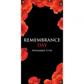 Remembrance Day Flag - Poppies on Black  (4)