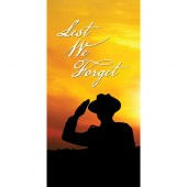 Remembrance Day Flag - Sunset with Soldier Saluting (5)