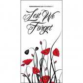 Remembrance Day Flag  - Lest We Forget and Poppies (8)