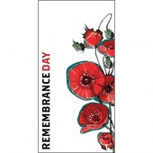 Remembrance Day Flag - White Flag with Red Poppies (7)