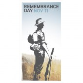 Remembrance Day Flag - Soldier Side On Outline (6)