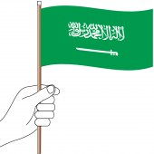 Saudi Arabia Hand Flag Handwaver