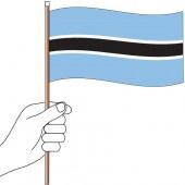 Botswana Flag Handwaver 300mm x 150mm (Knitted)