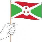 Burundi Handwaver Flag 300mm x 150mm (Knitted)
