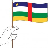 Central African Republic Handwaver Flag 300mm x 150mm (Knitted)