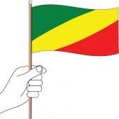 Congo Handwaver Flag 300mm x 150mm (Knitted)