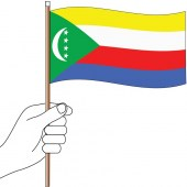 Comoros Handwaver Flag 300mm x 150mm (Knitted)