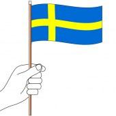 Sweden Hand Flag Handwaver