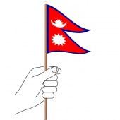 Nepal Hand Flag Handwaver