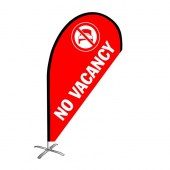 No Vacancy Small Teardrop Flag Kit