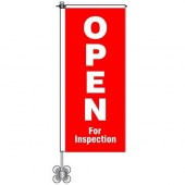 Open for Inspection Window Pole Flag