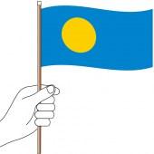Palau Hand Flag Handwaver