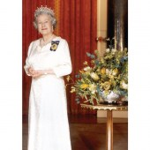 Portrait of the Queen - Pull Up Banner (A4 sized)
