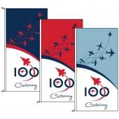 Air Force Flags, Bundle of 3. Vertical Orientation