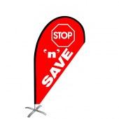 Stop n Save Small Teardrop Flag Kit