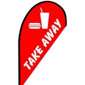 Take Away Small Teardrop Flag