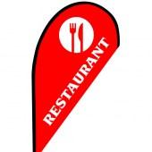 Restaurant Small Teardrop Flag