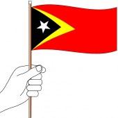 Timor Leste Hand Flag Handwaver
