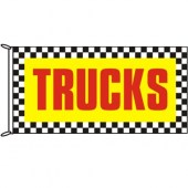 Trucks Chequered Border Flag