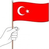 Turkey Hand Flag Handwaver