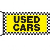 Used Cars Chequered Border Flag