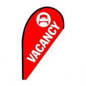 Vacancy Small Red Teardrop Flag Kit