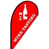Wine Tasting Small Teardrop Flag Kit