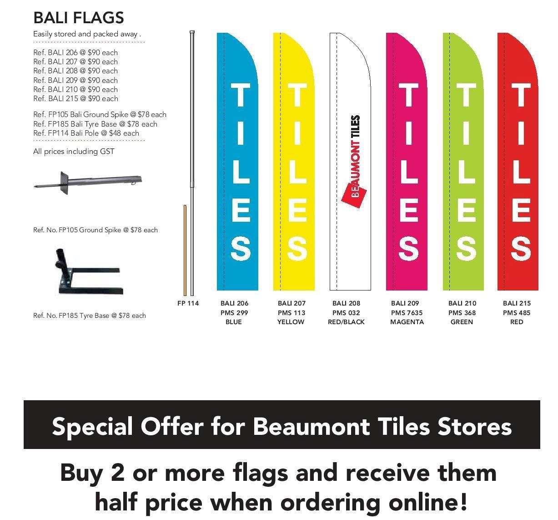 Beaumont Tiles Flag Options