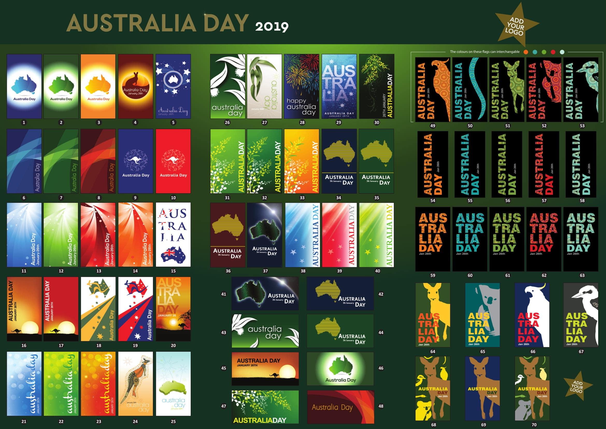 Australia Day Flags Brochure