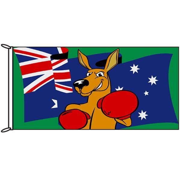 Australian Fighting Kangaroo Flag