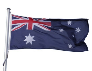Australian Flag Flying