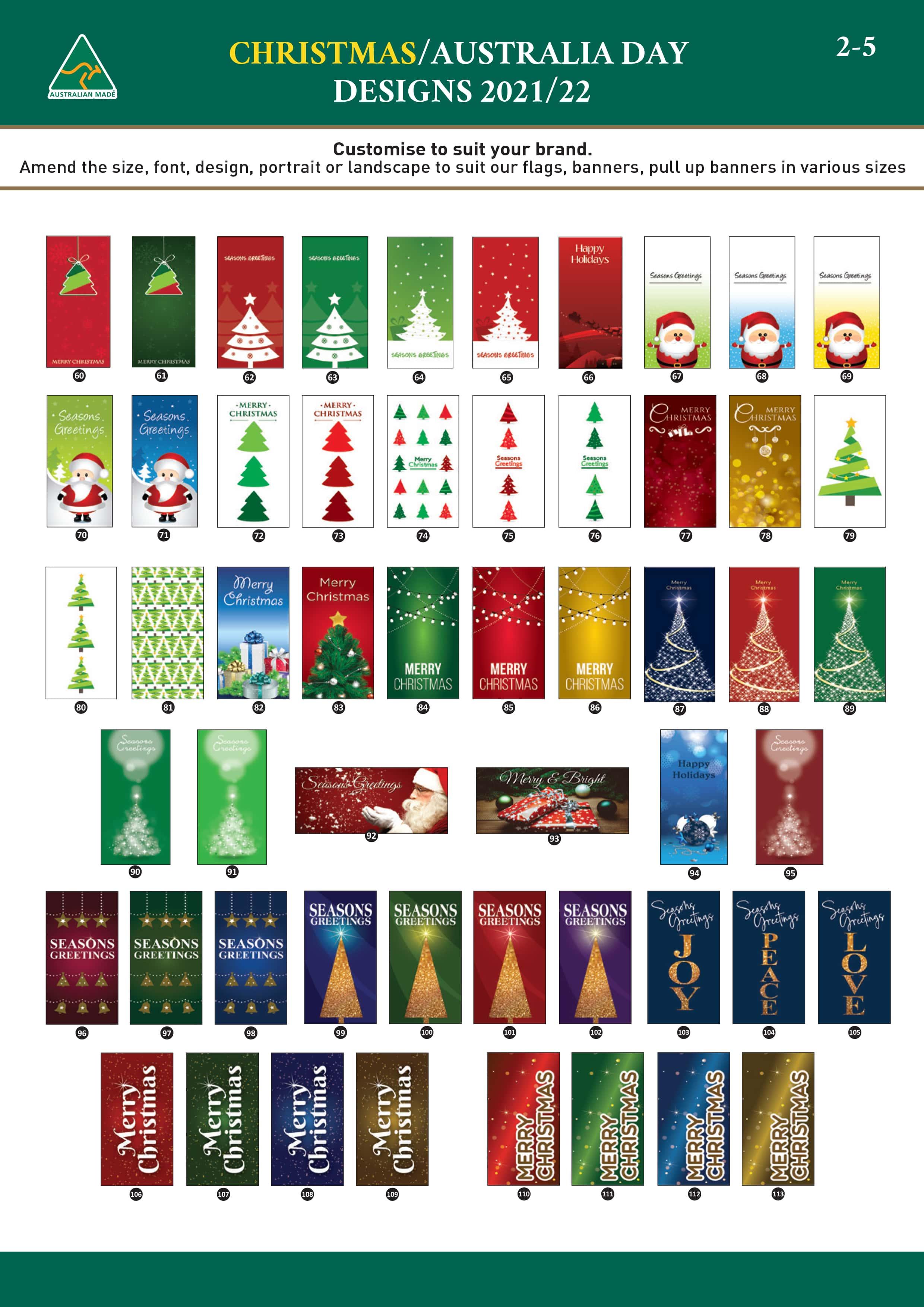 Christmas Flags Brochure pg 2