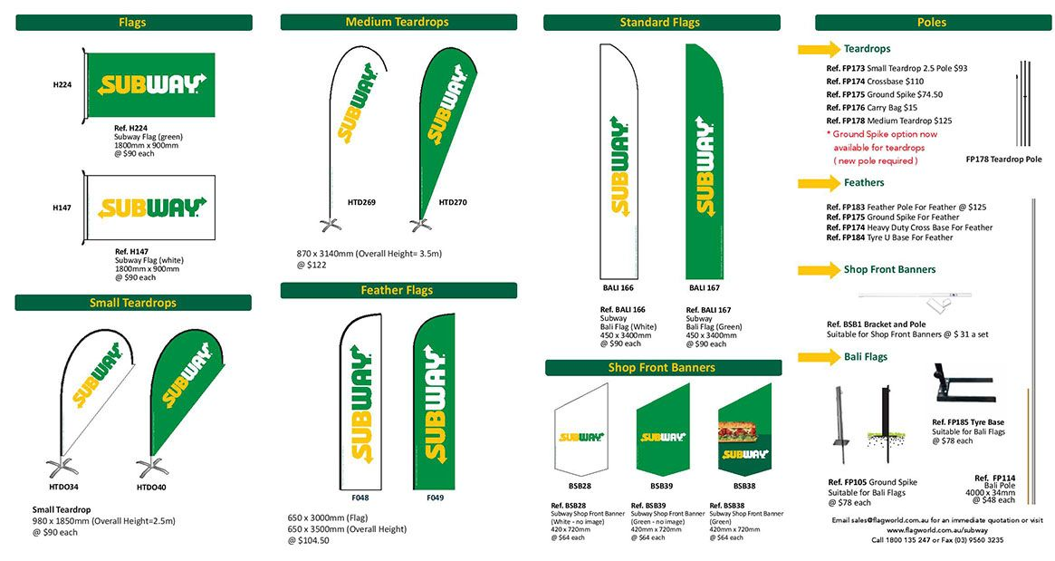 Subway Flags and Banners