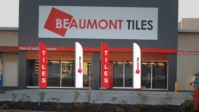 Beaumont Tile Flags Red and White