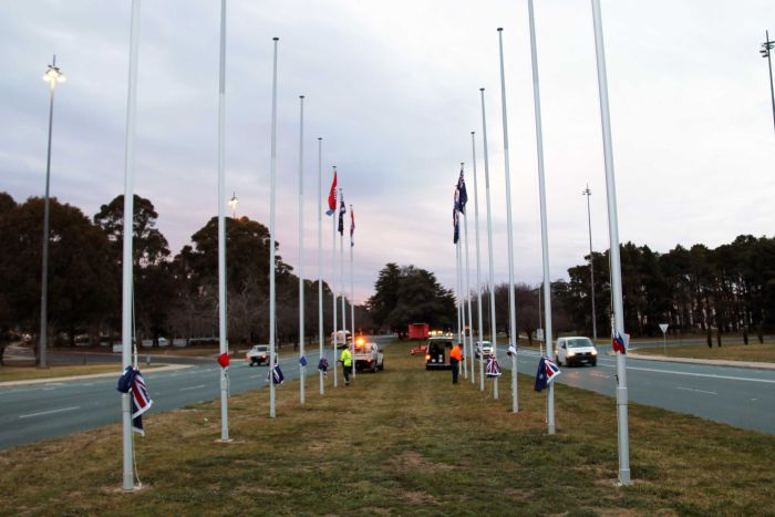 Flags Flying in Canberra