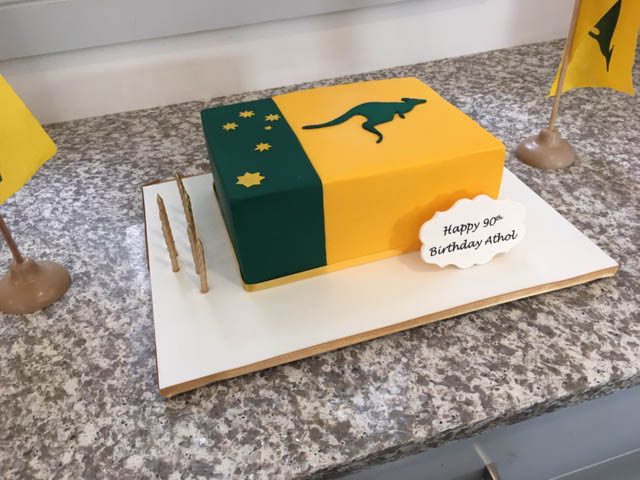 Athol Kelly Sporting Flag Cake