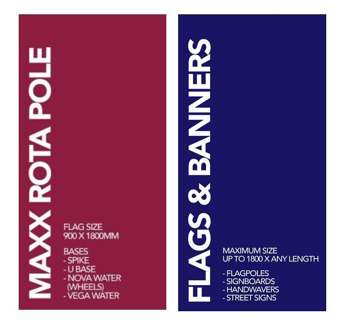 Rota Poles, Flags and Banner Sizes