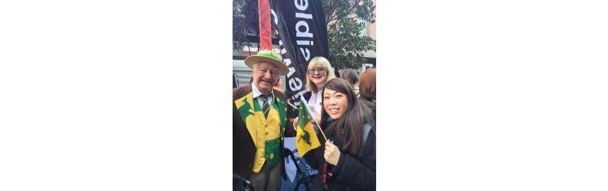 Happy Birthday Athol Kelly, Designer of the Australian Sporting Flag