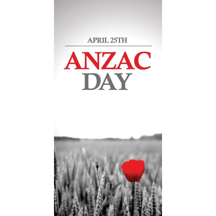 Anzac Day Flag - Red Poppy (27)