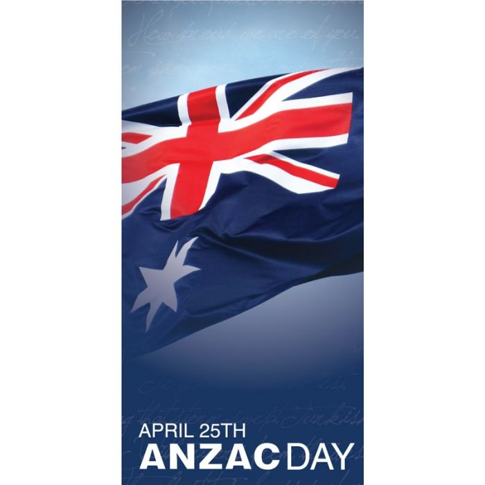 Anzac Day Flag - Blue with Australian Flag (30)